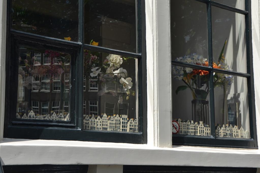 Amsterdam Häuser Fensterdeko