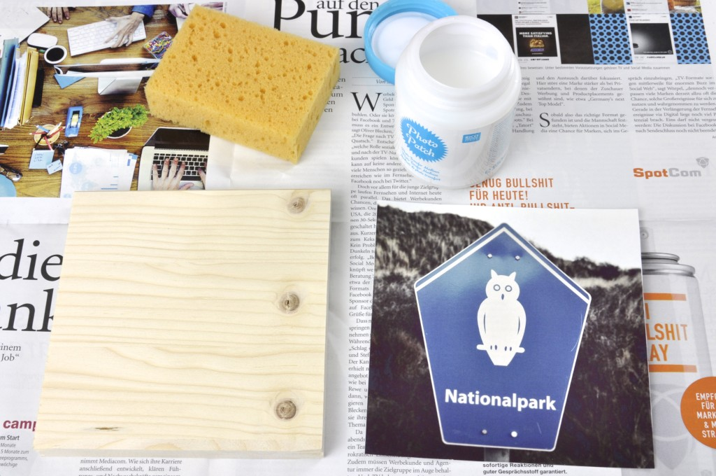 diy fotos auf holz ziehen mit photo patch fr ulein anker. Black Bedroom Furniture Sets. Home Design Ideas