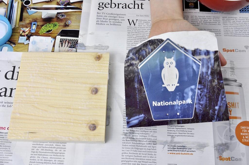 Photo Patch Fotos auf Holz ziehen