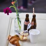 Frühstücken auf dem Marktzeit Opening