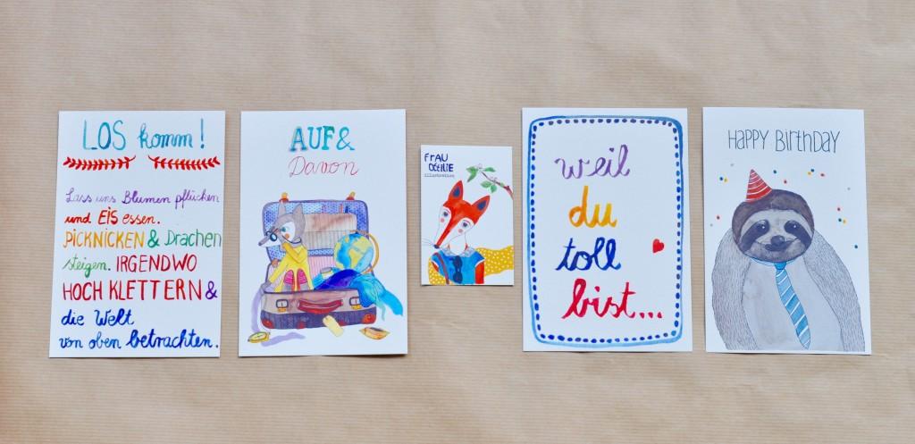 Frau Ottilie Illustration Elbrausch Designmarkt Ausbeute