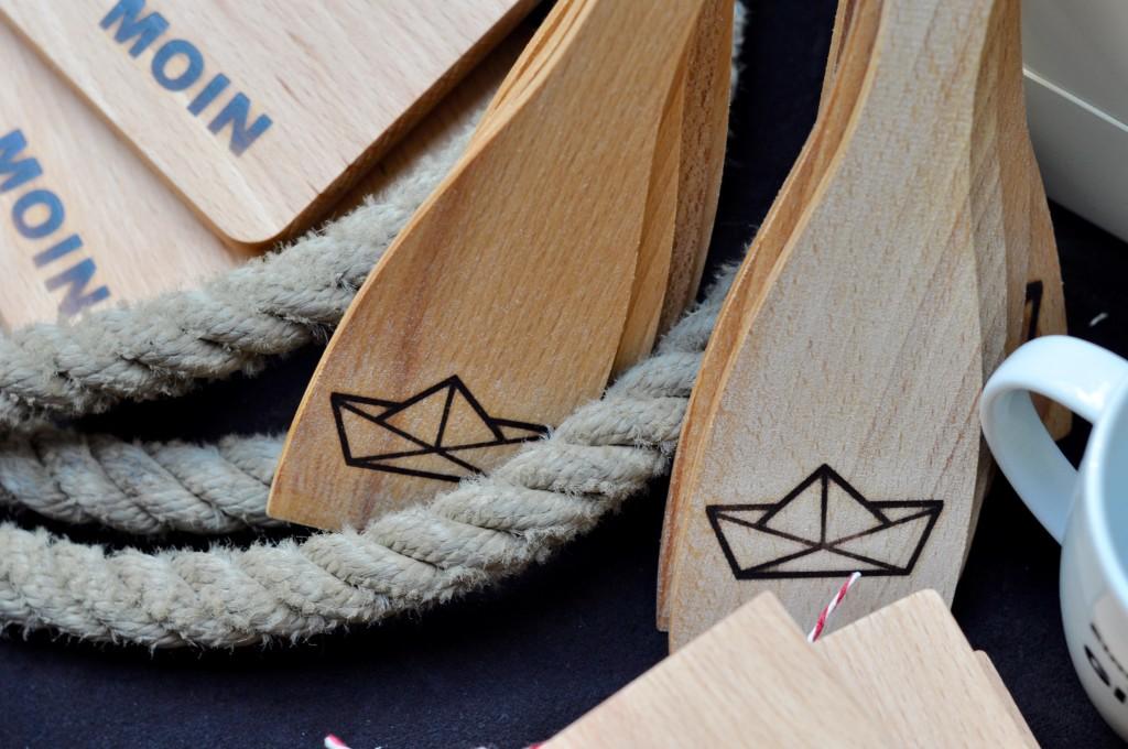 Elbrausch Designmarkt Freudinge Papierboot Holz