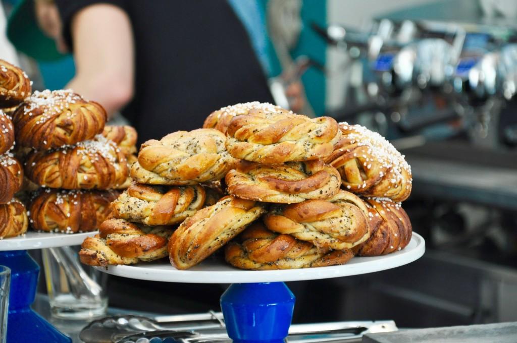 Zimtschnecken Schweden Fika Kanelbullar Café