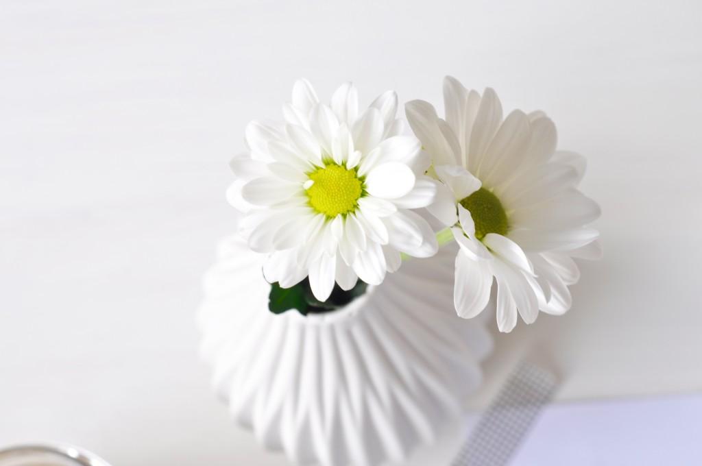 Blumen Vase Köhnigreich weiß