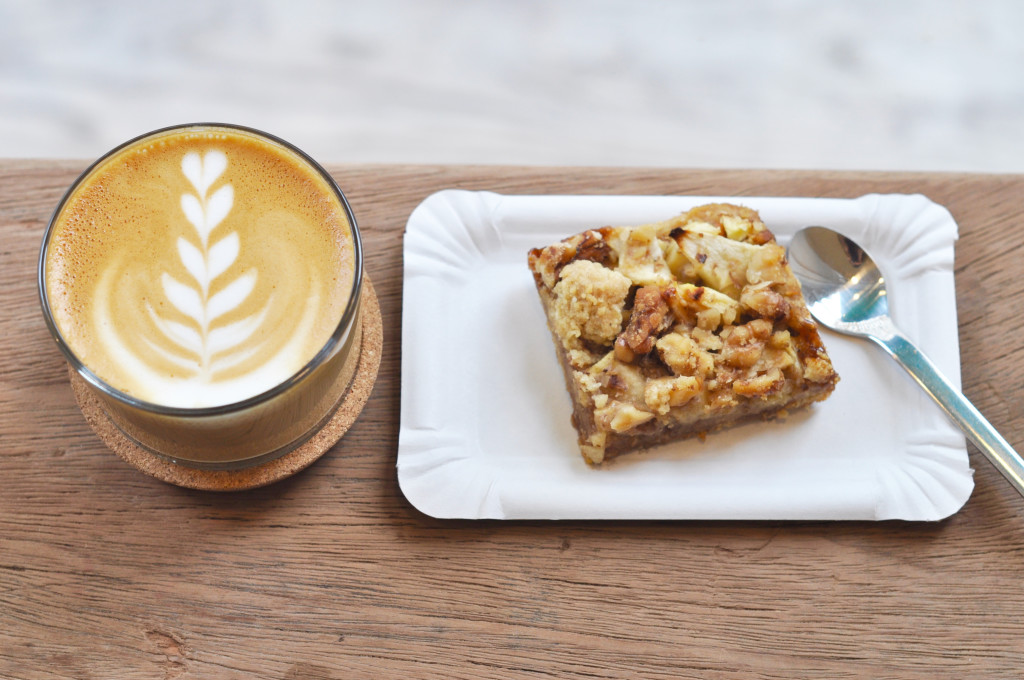 Appfle-Caramel.Nut und Coffee im Pop up Cafe Tornqvist St. Pauli Tørnqvist