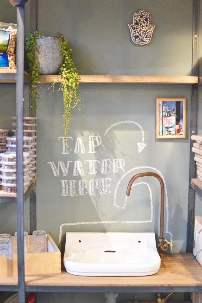 Tap Water here Sir Hummus Amsterdam De Pijp