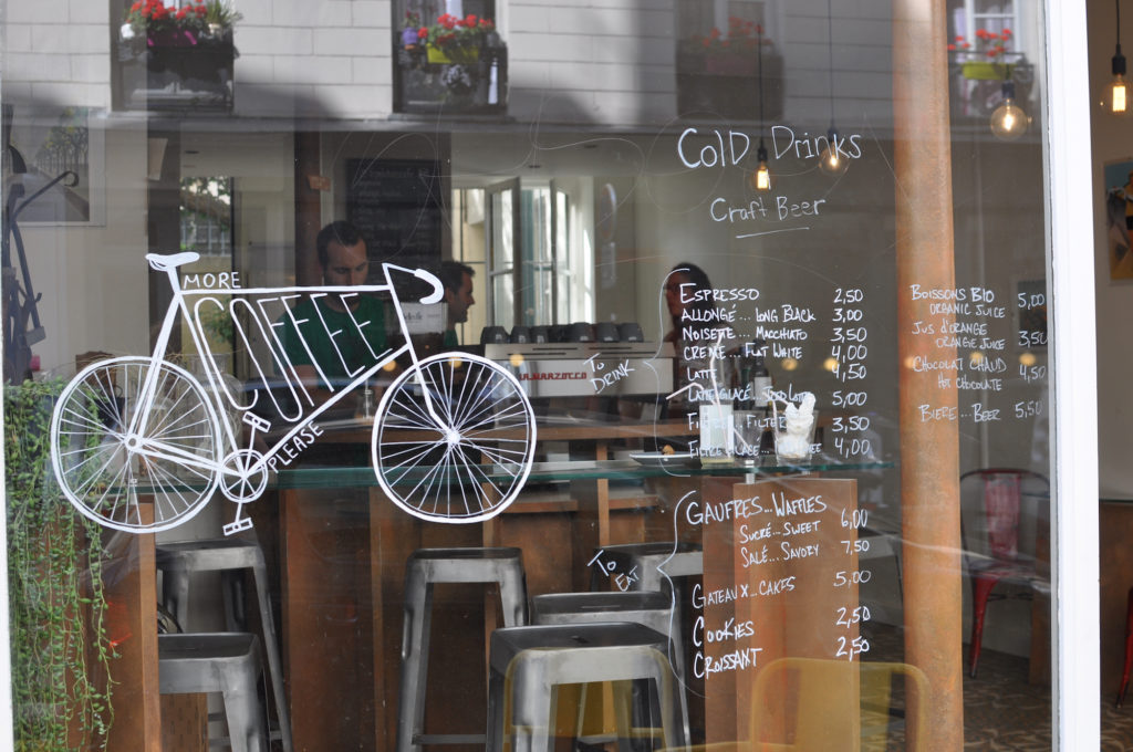 1 Le Peloton Bike Coffeeplace Paris more coffee please Marais