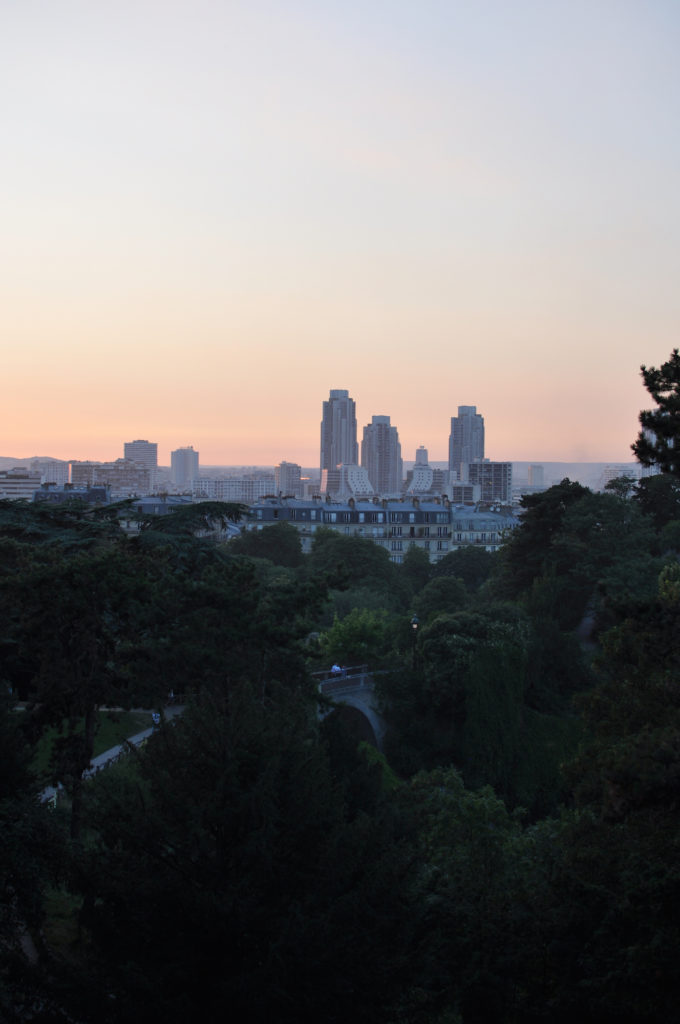 Paris Sonnenuntergang Park Stadt