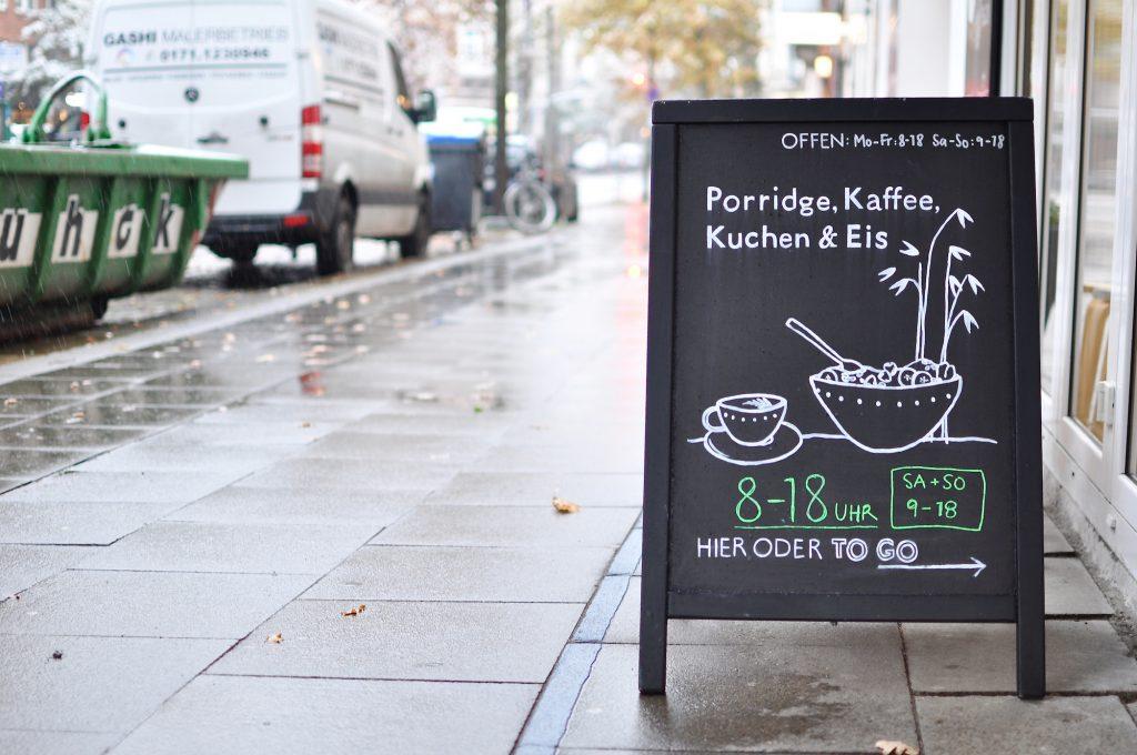 Luicella's Ice Cream St Georg Lange Reihe Porridge Kaffee Kuchen Eis