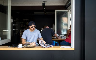 Sydney, Manly: Barefoot Coffee Traders & Shelly Beach