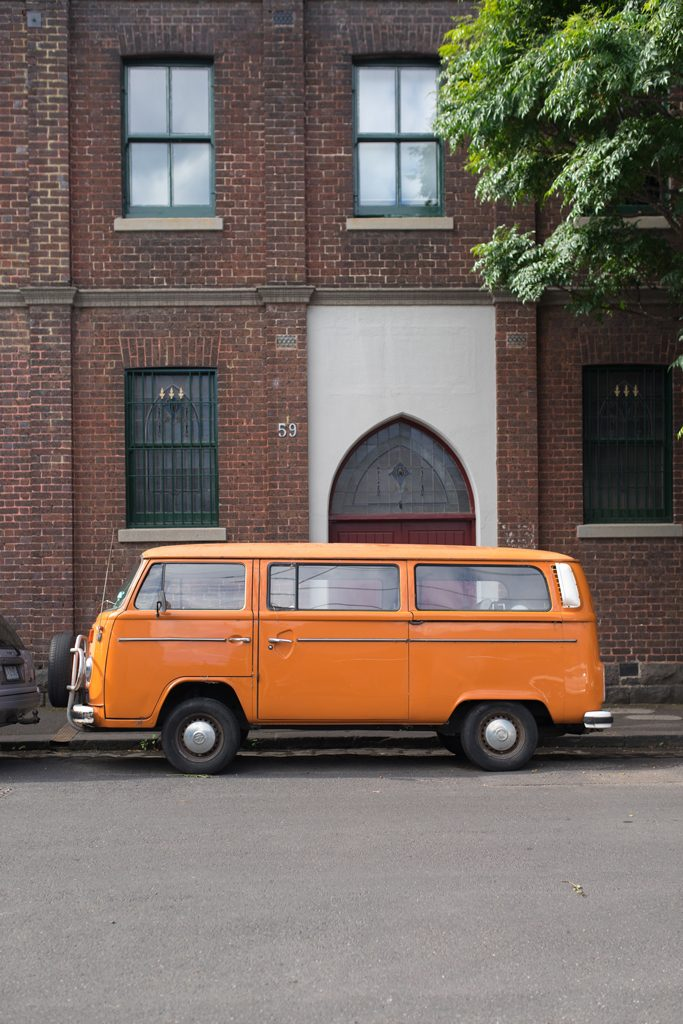Orange-VW-Van-Melbourne-Streets-of-Fitzroy