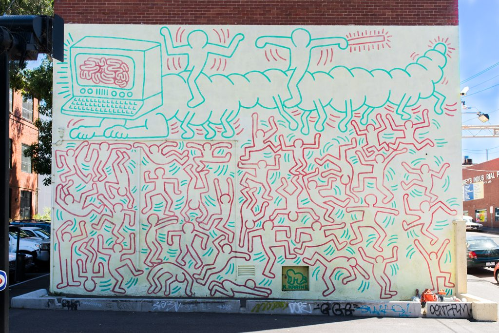 Keith-Haring-Mural-Melbourne-Johnston-Street-Collingwood