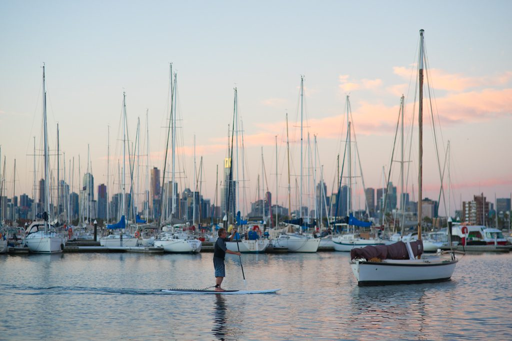Melbourne-St-Kilda-SUP-Harbour