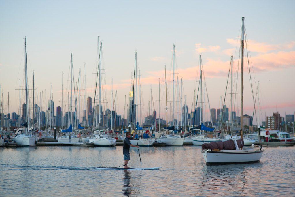Melbourne-St-Kilda-SUP-Harbour