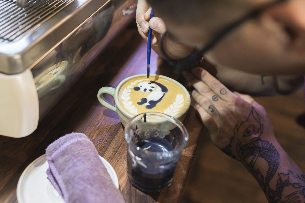 Caféfin Latte Artists Panda Prague