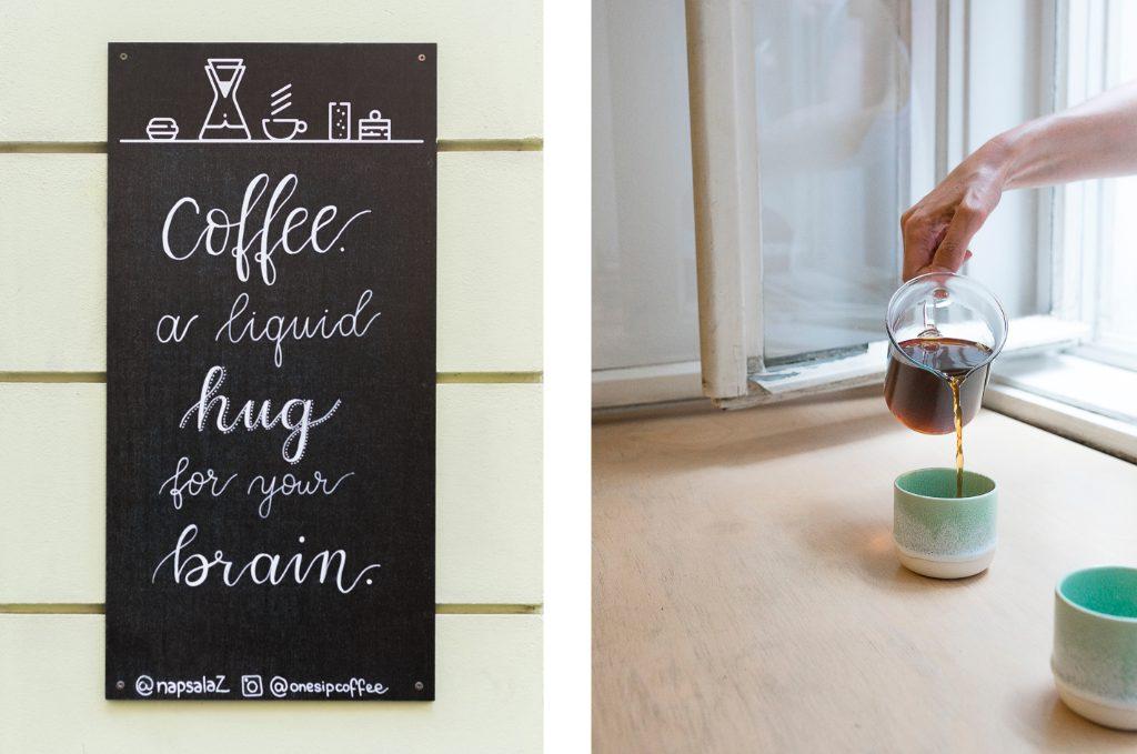 Onesip Prague Prag specialty coffee or liquid hug for your brain