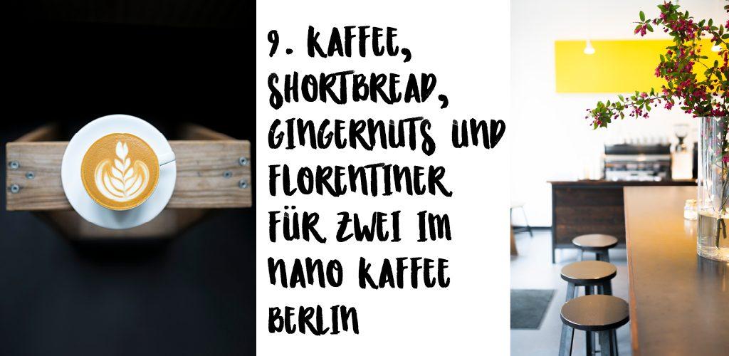 NANO KAFFEE BERLIN Gutschein für Kaffee 9 Dezemberglück