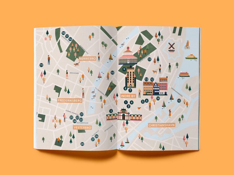 Die Hallo Kopenhagen Karte, eine Illustration von Saskia Rasink
