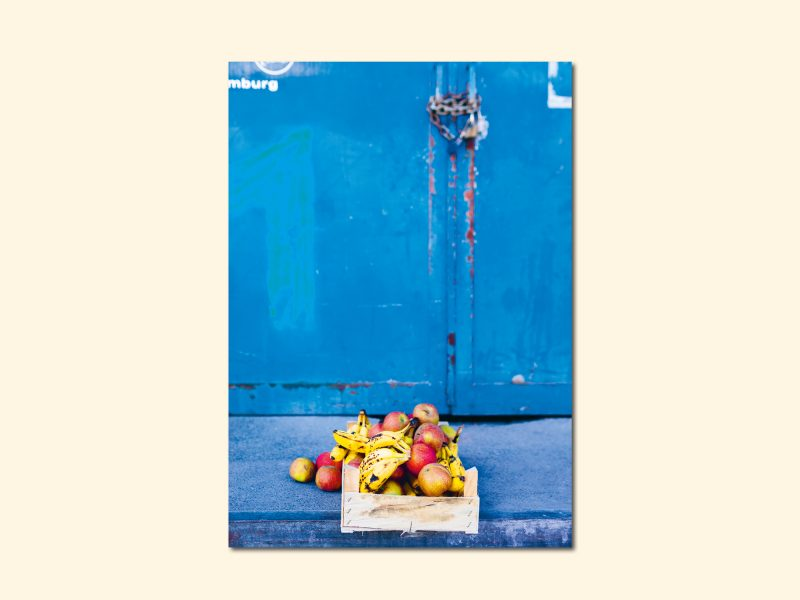 Äpfel und Bananen, limitierter Fotodruck